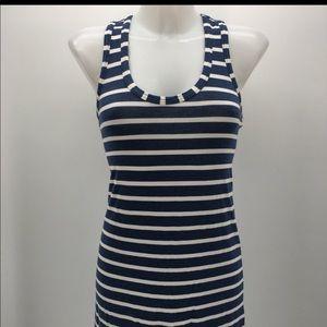 J crew maxi dress blues striped racerback size xxs